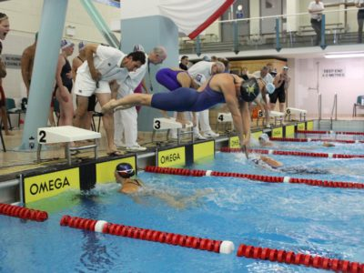 Inter services swimming relays