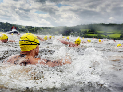 Army athletes took the plunge at Lake Bala, in North Wales, for the Inter-Services and Inter-Corps open water swimming championships